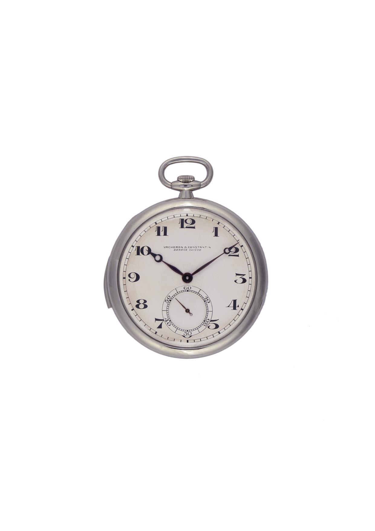 Vacheron Constantin Platinum ultra-thin minute-repeater pocket watch, circa 1928.