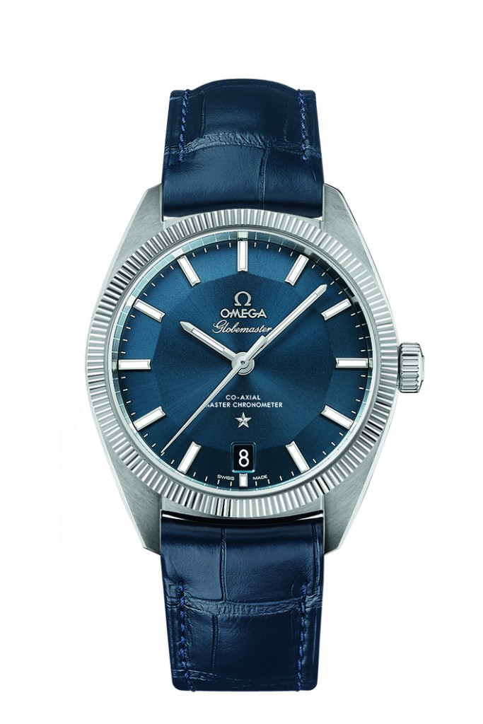 Redmayne wore the Omega Globemaster watch