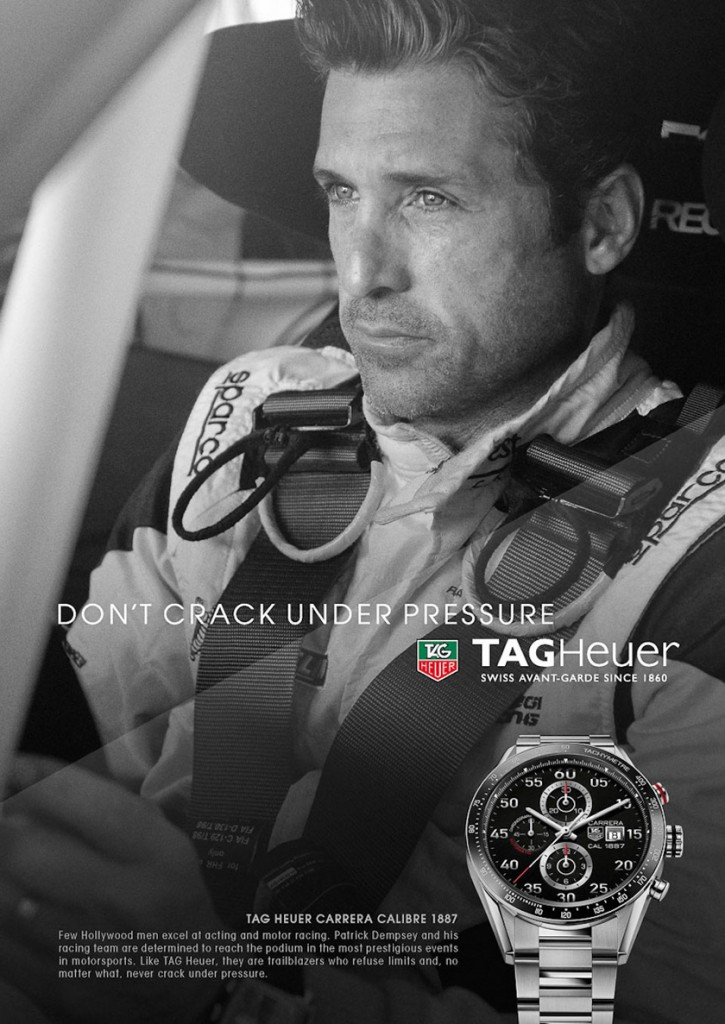 "Patrick Dempsey in the ""Don't Crack Under Pressure"" campaign"