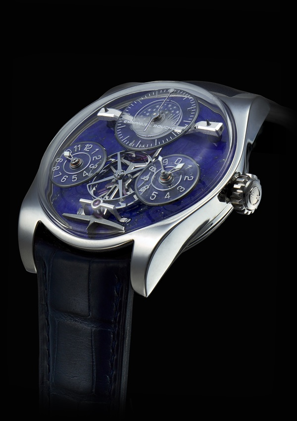 Emmanuel Bouchet Complication One Lapis Lazuli Dial is a unique piece up for auction this month by Christies.