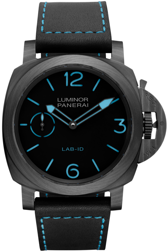 The case of the Panerai Lab-ID watch is made of Carbotech.