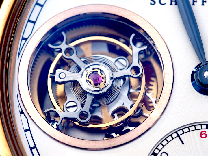 The watch features a one-minute tourbillon.