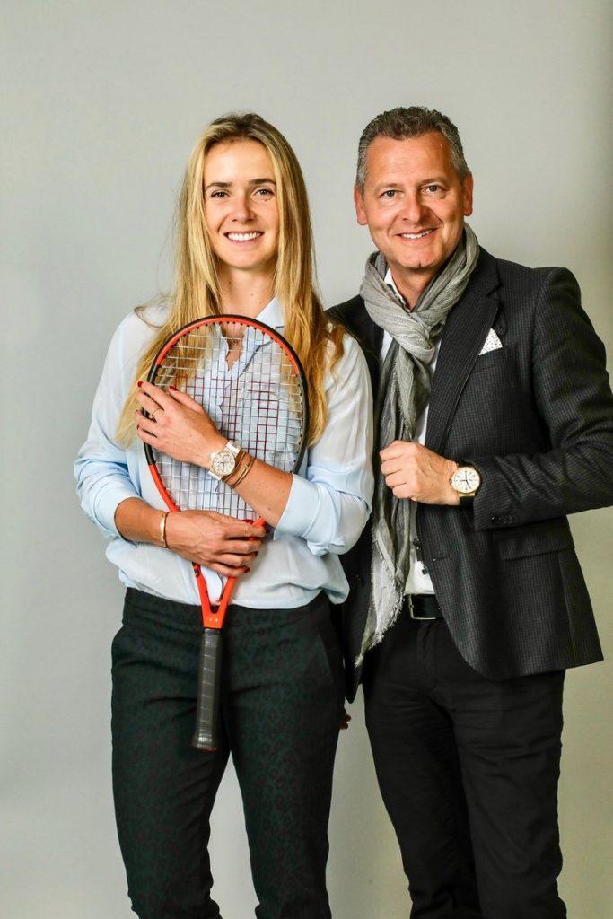 Elina Svitolina, brand ambassador for Ulysse Nardin, with Patrik Hoffmann, CEO of Ulysse Nardin (Photo: courtesy Ulysse Nardin)