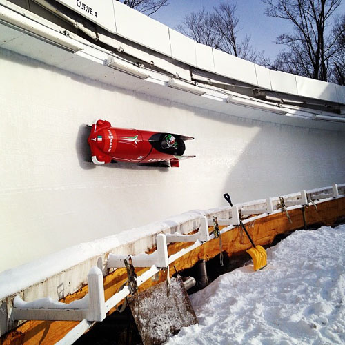 It's all about the clock in bobsledding. The clock, the racers, and the skill set.