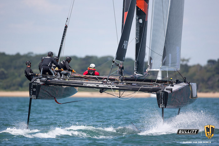 The Armin Strom team racing at Cowes Cup