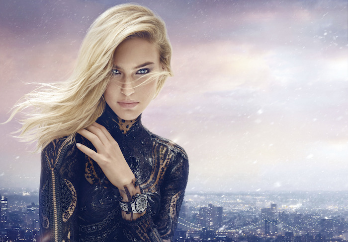 Bar Refaeli in the Big Bang Broderie by Hublot