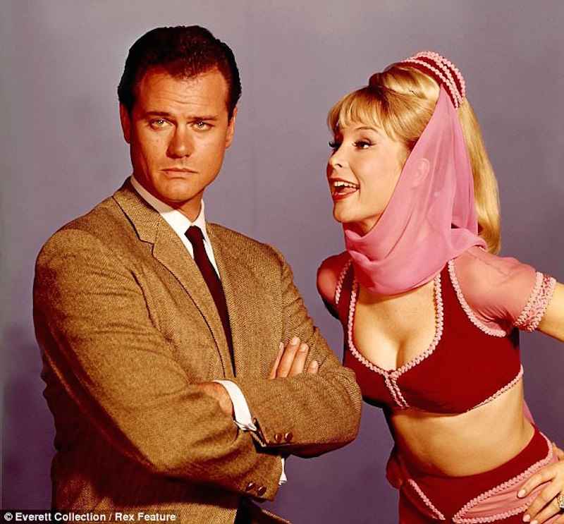 """I Dream of Jeannie"" starred Larry Hagman as Major Nelson, opposite Barbara Eden as Jeannie."