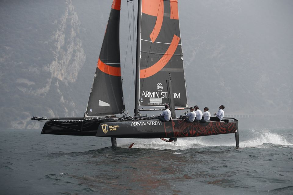 Armin Strom Sailing Team, with Flavio Marazzi, broke the GC32 sound barrier of 40 knots – with a peak speed of 41.6 knots.