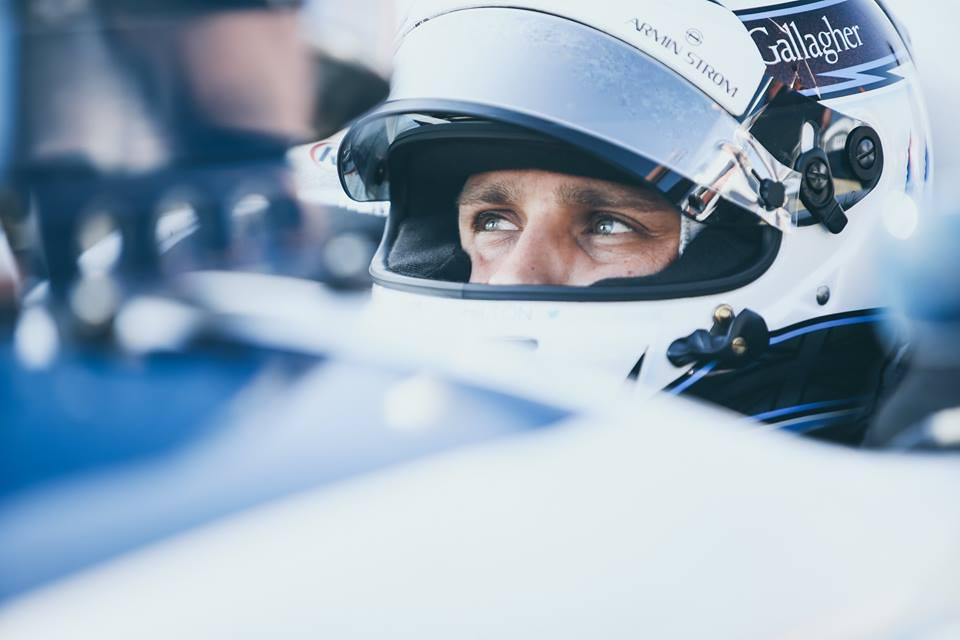 Armin Strom brand ambassador Max Chilton raced at Barber Motorsports Park wearing Armin Strom Edge Double Barrel watch