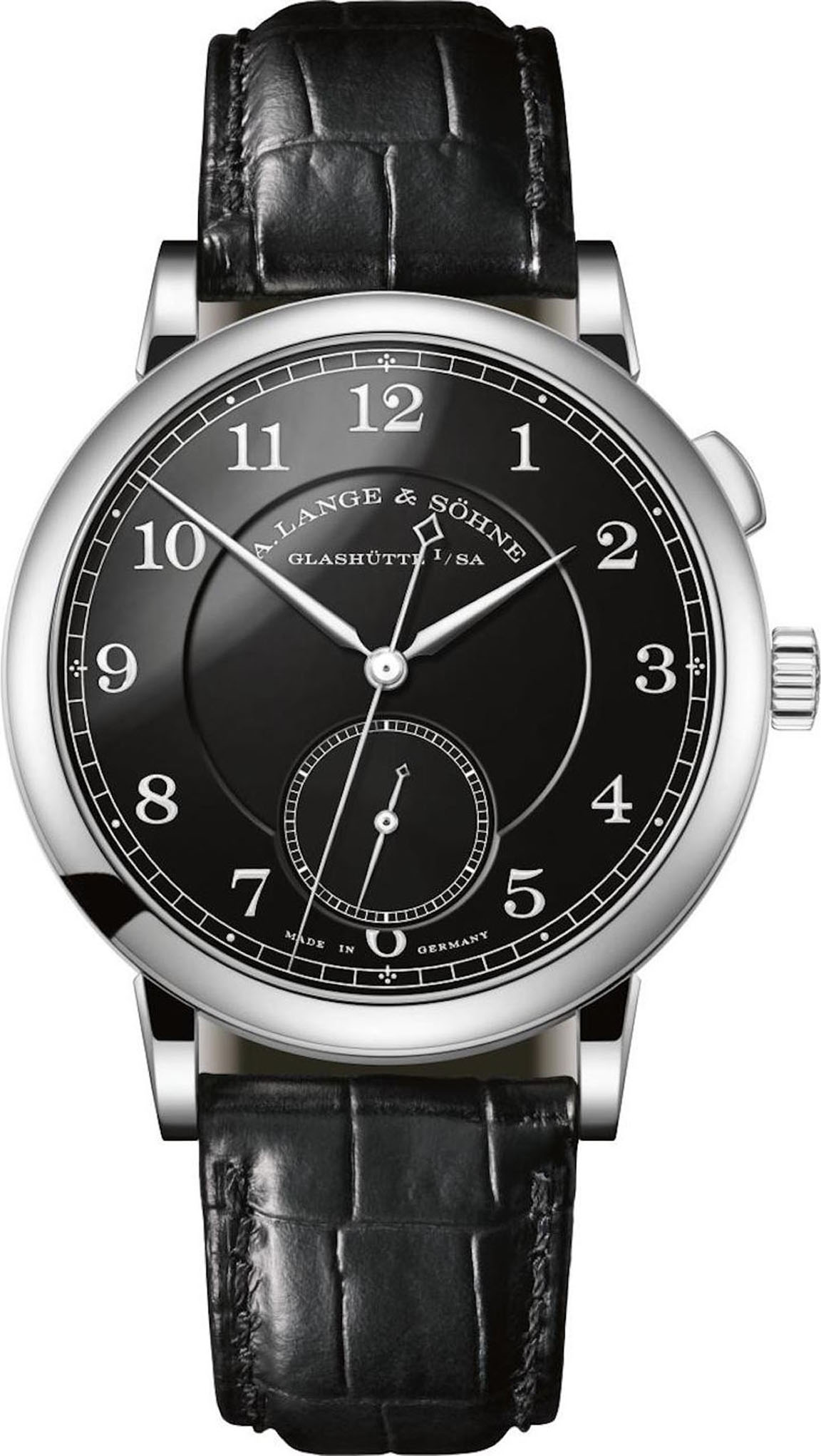 Pre-SIHH 2018: This special edition stainless steel A. Lange & Sohne 1815 Homage to Walter Lange watch with black enamel dial is a one-of-a-kind that will be auctioned next year for charity.