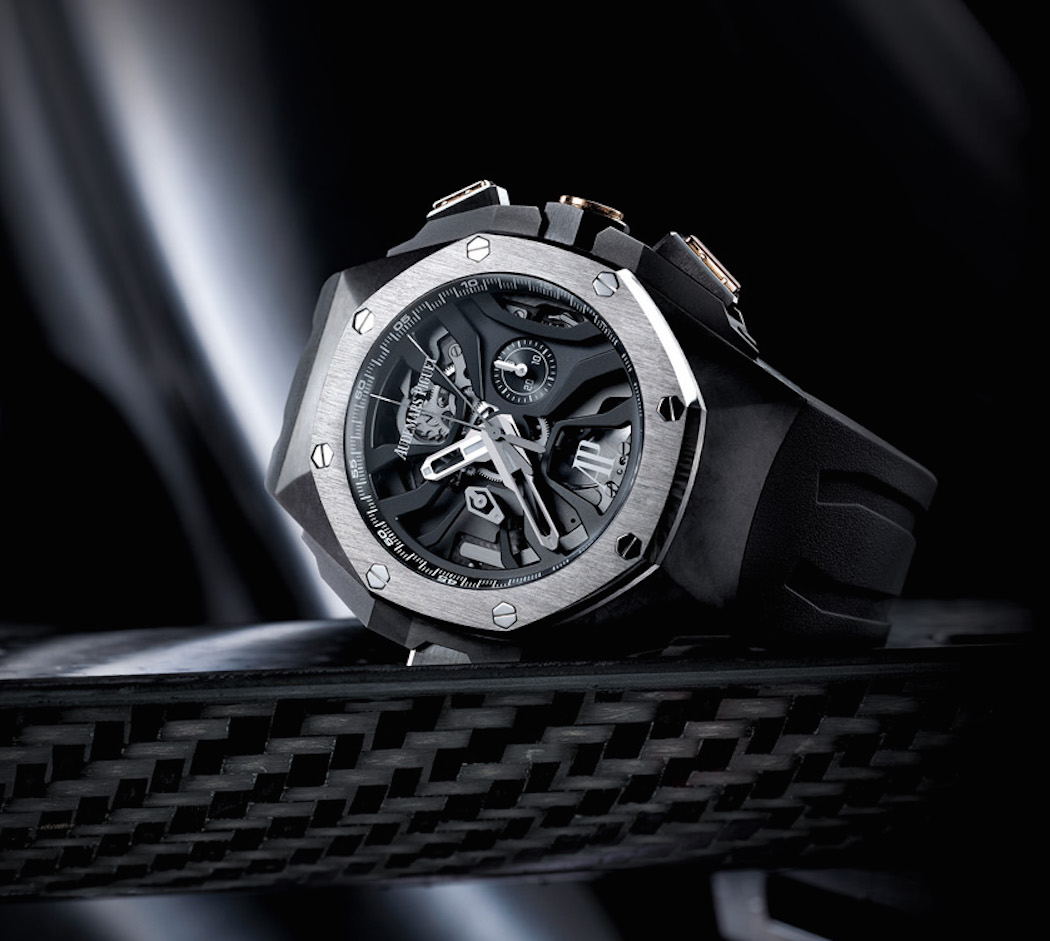 The watch features one chronograph with three column wheels and has 413 parts