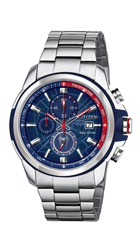Citizen Marvel Spider-Man chronograph, $395.