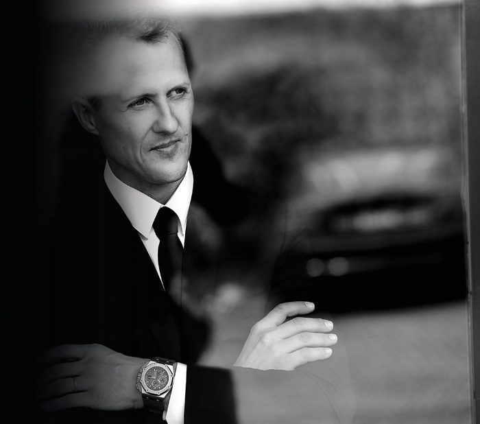 Michael Schumacher challenged Audemars Piguet to create one watch that could time laps and do the work of multiple watches