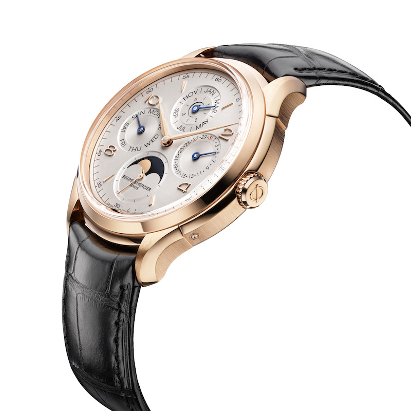 Baume et Mercier Clifton red gold qp high touch 42 mm profil