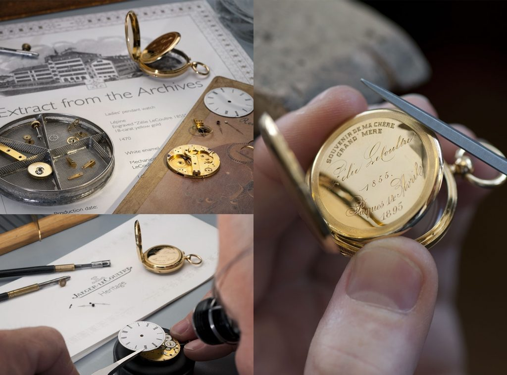 Jaeger-LeCoultre recently completed restoration of a pocket watch made by the brand's founder for his wife.