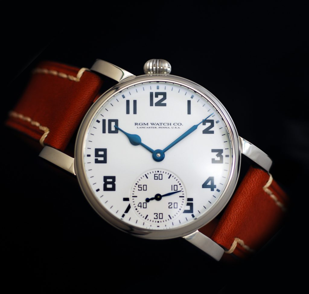 RGM Model 222-RR box car inspired anniversary watch, made in America.