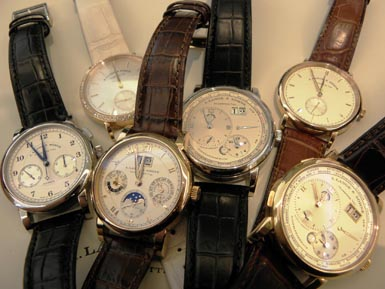 A. Lange & Sohne watches - a collector's dream.