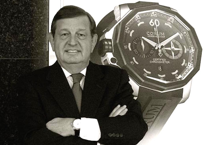 Steve Shonebarger. Though  seen here in front of a Corum image, his most recent career move was with deGrisogono in the United States.