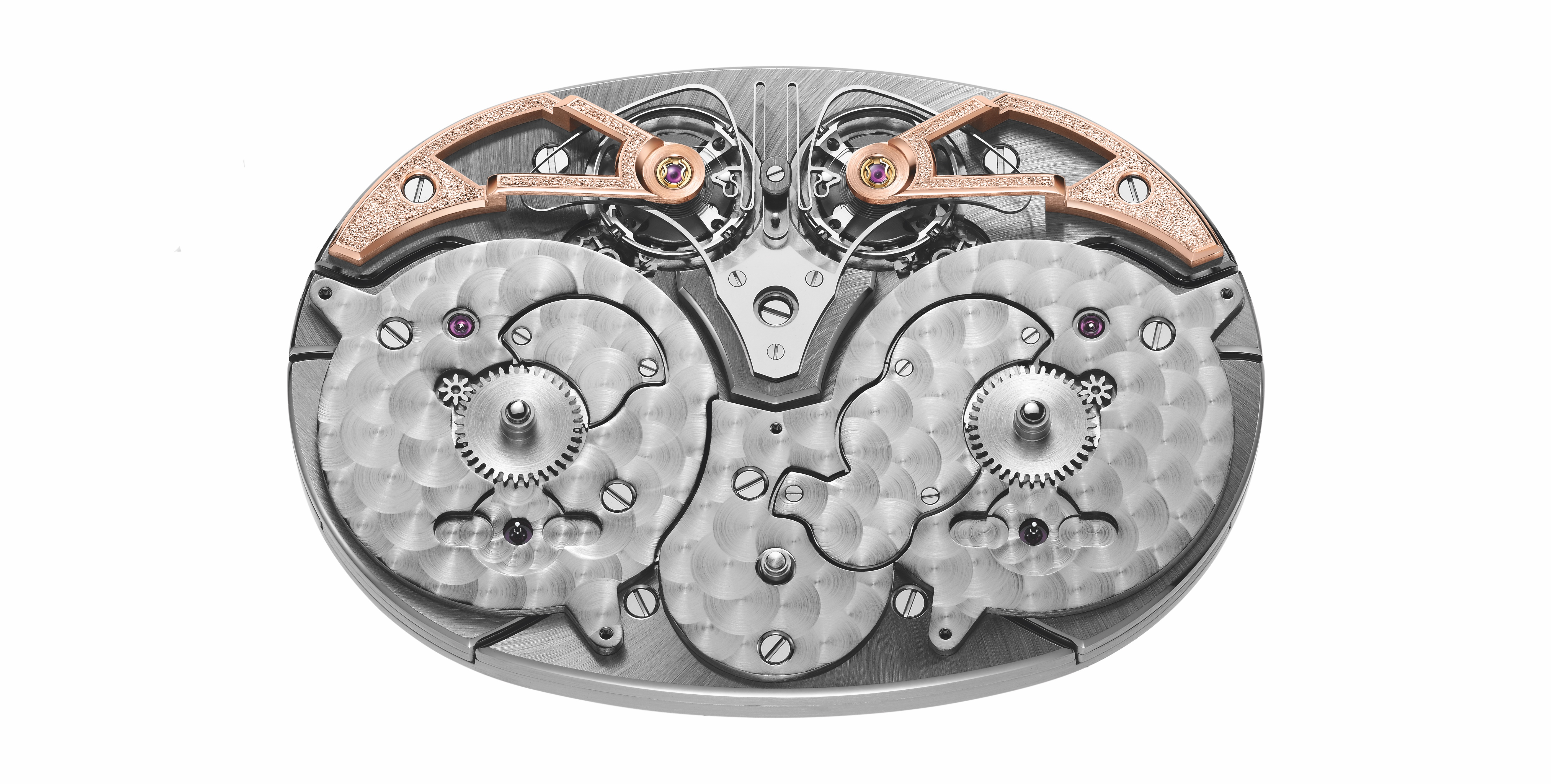 Armin Strom ARF17 movement for the rose gold Dual Time Resonance GMT watch.