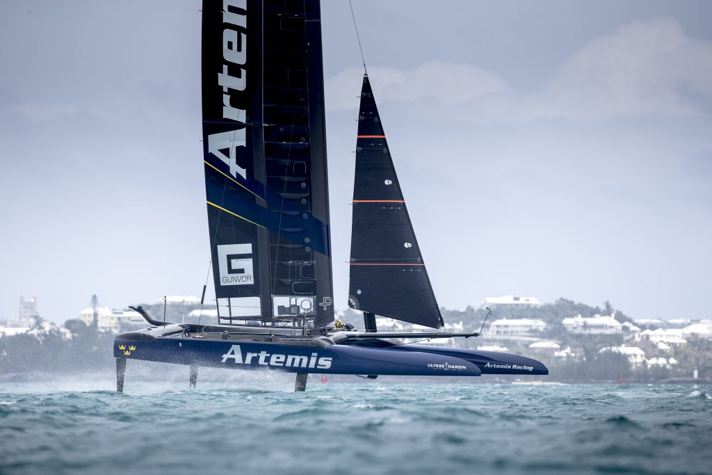 Ulysse Nardin worked with Artemis Racing to develop the Regatta watch.© Sander van der Borch / Artemis Racing