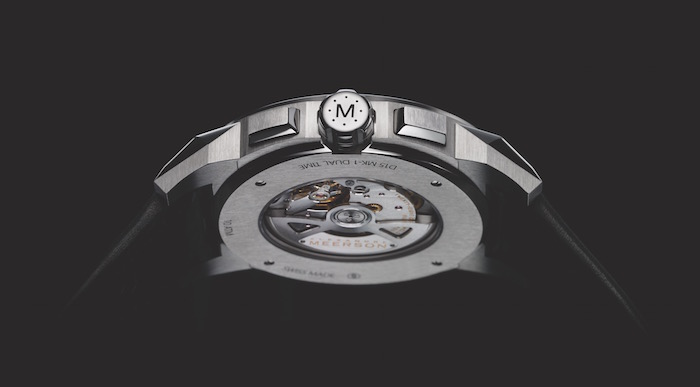 Meerson's D15 back casing peers into the Vaucher Manufacture Fleurier calibre with a Dubois Debraz complication.
