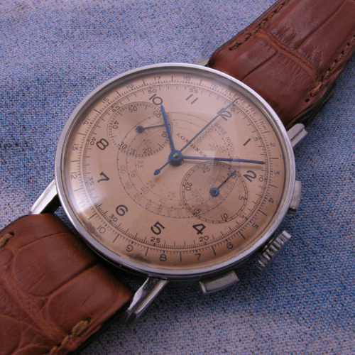 Thanks, Stefano, for sending in this Longines 13ZN Chronograph, circa 1942.