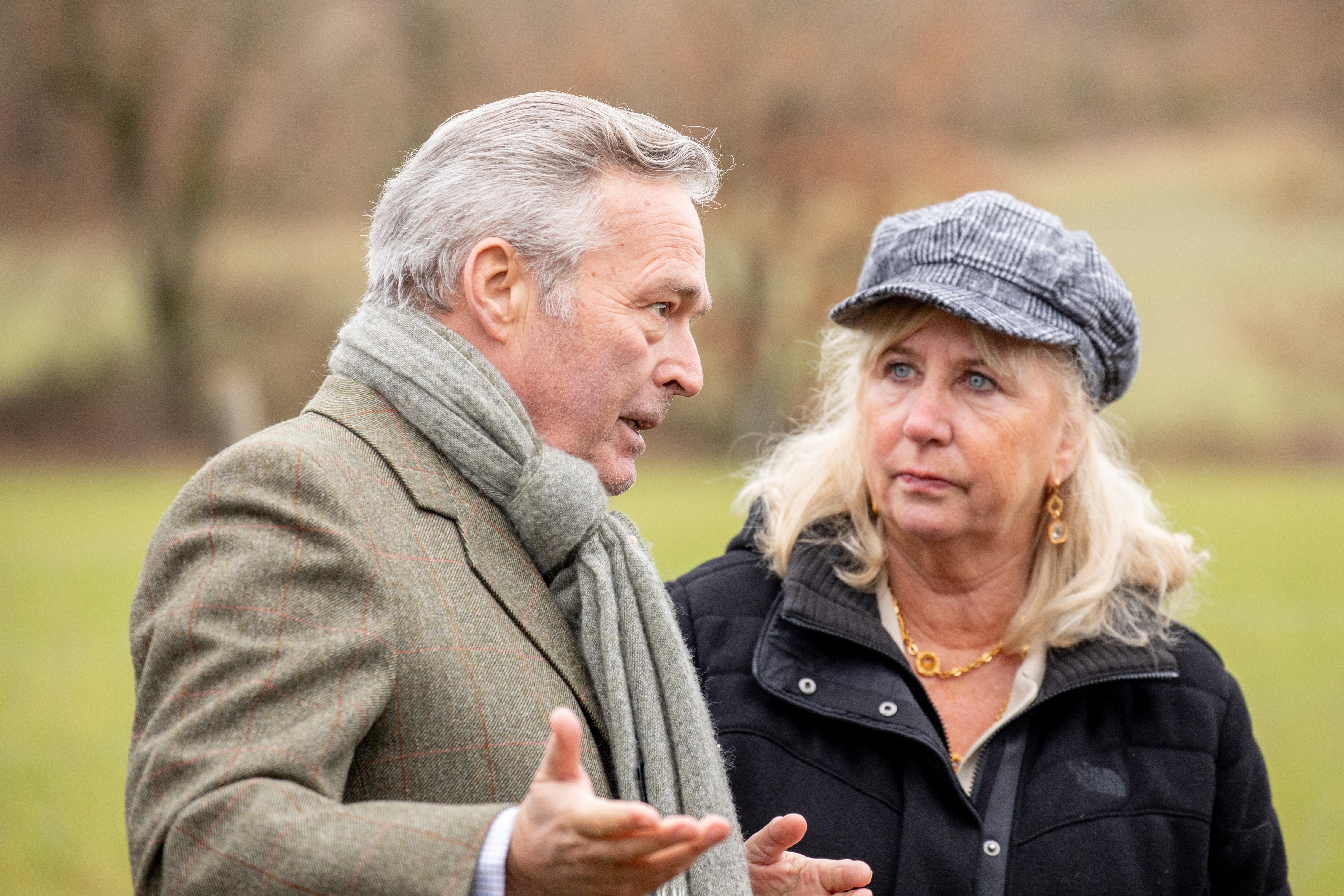 Karl-Friederich Scheufele, co-President of Chopard, and Roberta Naas, veteran watch journalist.