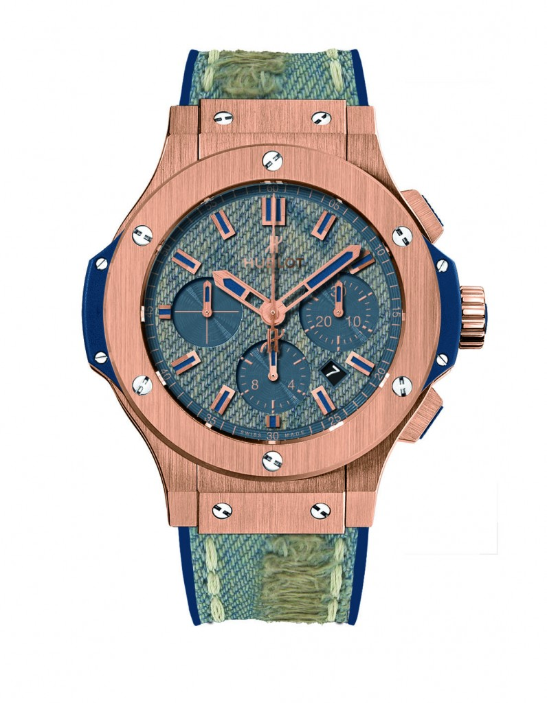 Hublot Big Bang Jeans watch with washed jeans