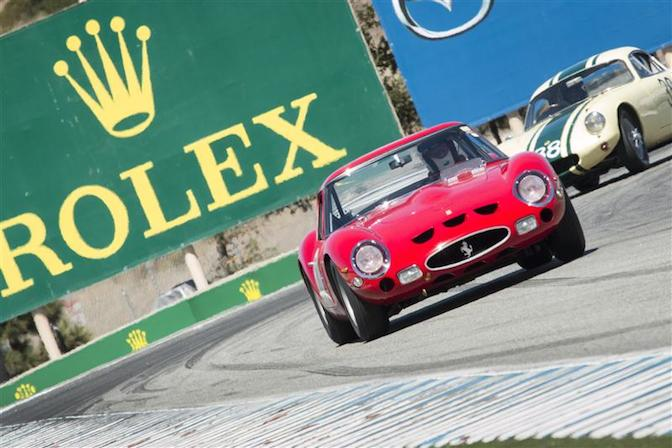 Negotiating the turns at Mazda Raceway Laguna Seca during this year's Rolex Monterey Motor Sports Reunion