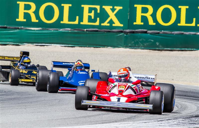 On the course at the Rolex Monterey Motorsports Reunion. Photo: Rolex, Stephan Cooper