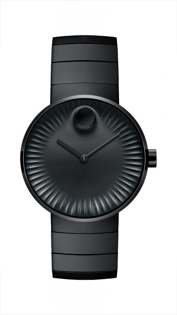 The Movado Edge features a highly polished 3D raised dot rising from the concave dial.