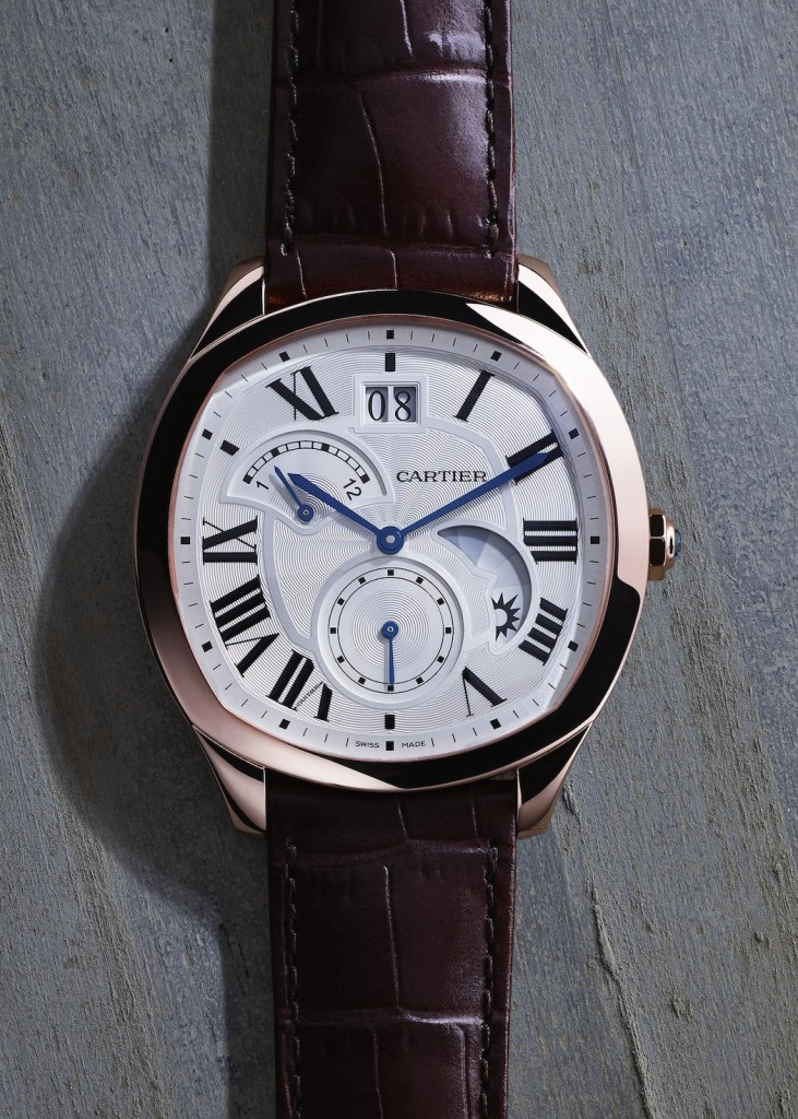 Drive de Cartier watch large date, retrograde second time zone and day/night indicator, 18-carat pink gold, self-winding Manufacture mechanical movement 1904-FU MC