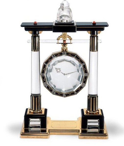 There are 15 Cartier Mystery Clocks on exhibit at the Grand Palais.