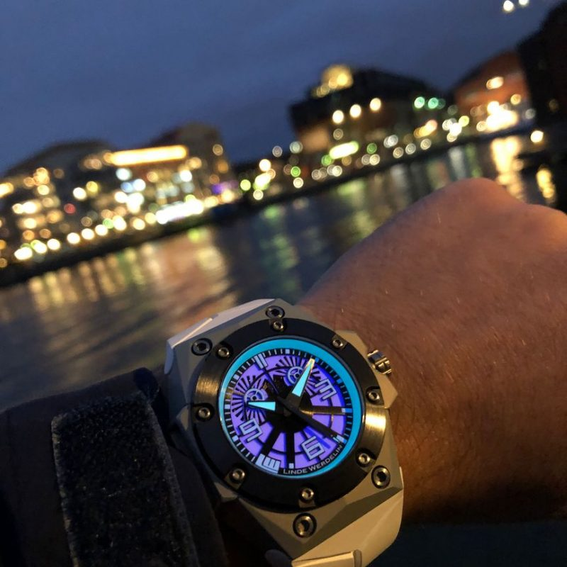 Linde Werdelin x Black Badger Oktopus Blue Sea watch