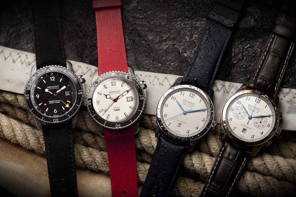 The first four watches in the Bremont lines honoring the America's Cup and Team Oracle USA