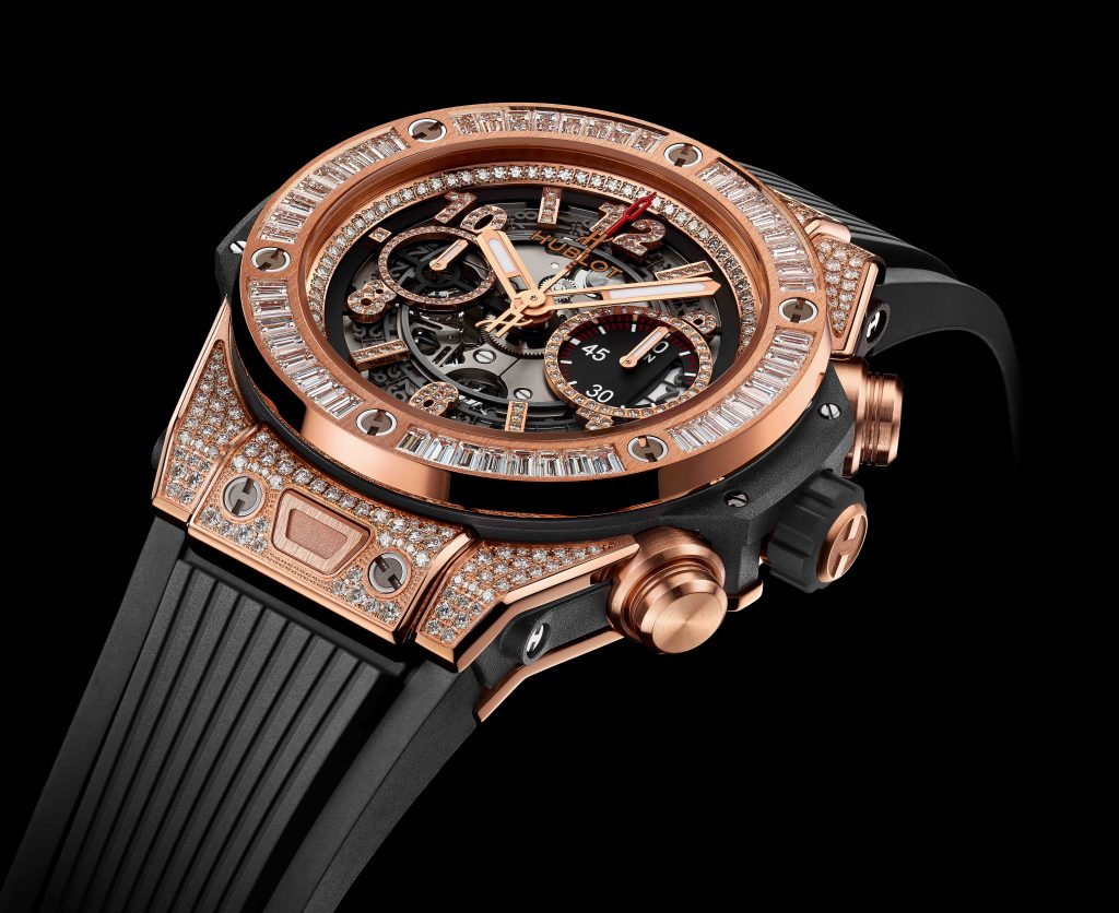 Hublot Big Bang jewelry watch emulates the bold look of Floyd Mayweather Jr.