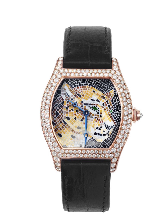 Cartier Tortue stone mosaic panther