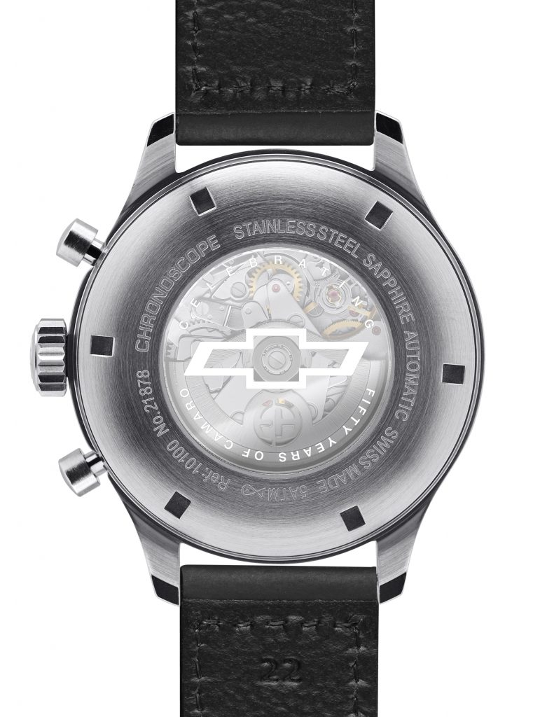 Each version of the Ernst Benz Camaro watch is created in a limited edition of 50 pieces.