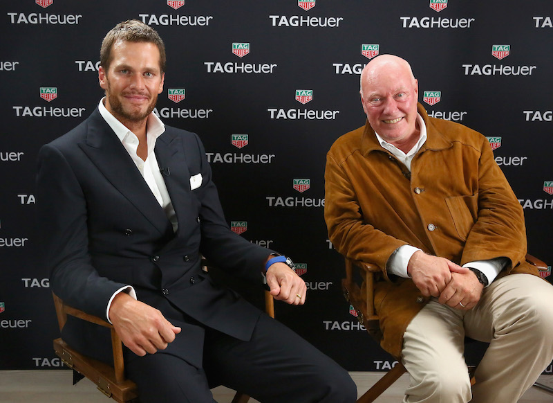 NEW YORK, NY - OCTOBER 13: Jean-Claude Biver (R) and Tom Brady attend the TAG Heuer announcement of Tom Brady as the new brand ambassador and launches the new Carrera - Heuer 01 on October 13, 2015 in New York City. (Photo by Astrid Stawiarz/Getty Images for TAG Heuer)