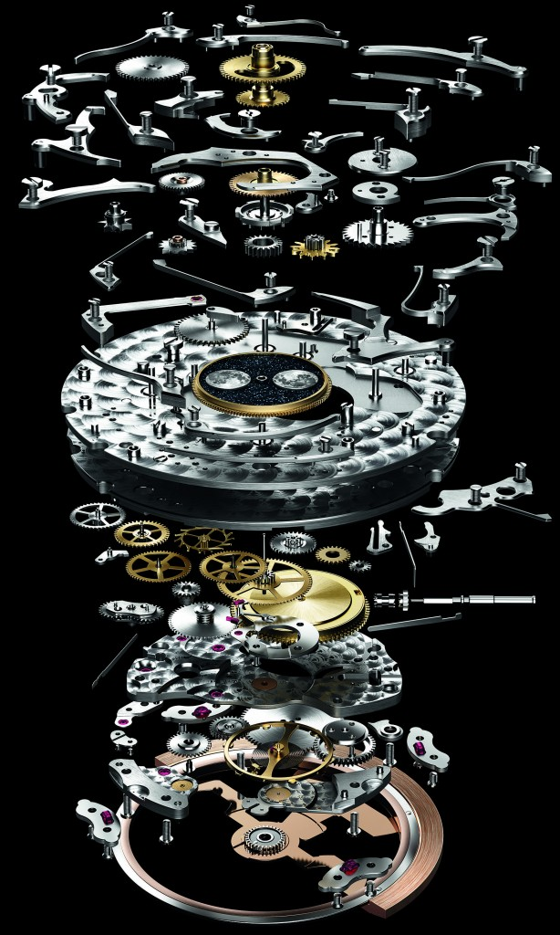 Exploded view of the new 5134 movement with 374 parts