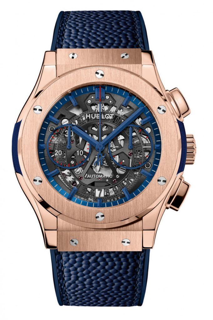 The King Gold version of the Classic Fusion Aerofusion Limited New York Edition chronograph, inspired by the Giants, is created in a limited edition of 10 pieces.