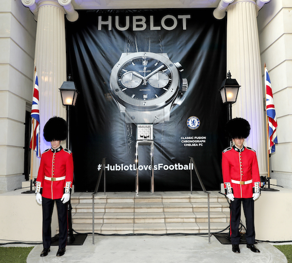 A view of the atmosphere at Hublot x Chelsea FC event in Los Angeles at Sony Pictures Studios in Culver City, California. (Photo by Rich Polk/Getty Images for Hublot)