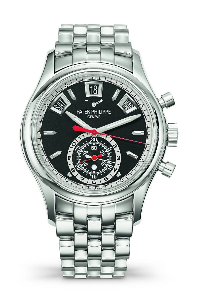 Patek Phiiippe Ref. 5960/1 is being offered in stainless steel with a black dial.