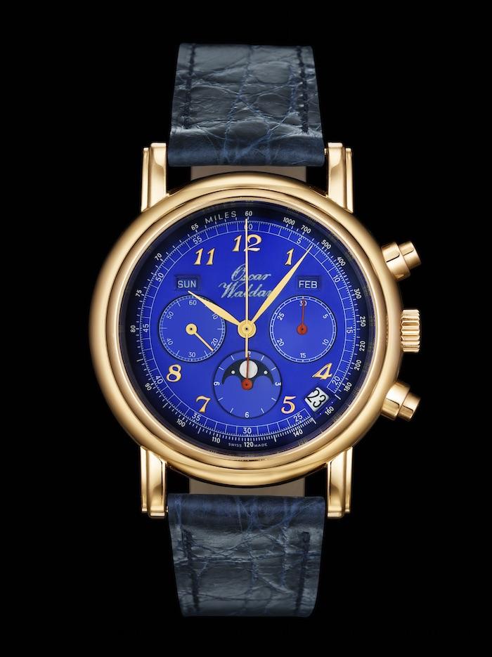Waldan's blue Astronic Chronograph powered by the 1969 El Primero 3019 PHF retro movement