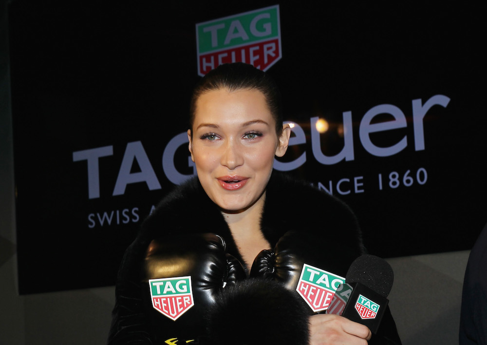 Bella Hadid is the new female brand ambassador for TAG Heuer. (Photo by Bennett Raglin/Getty Images for TAG Heuer)