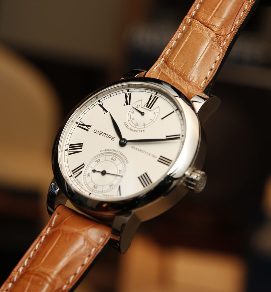 Wempe chronometer wristwatch.