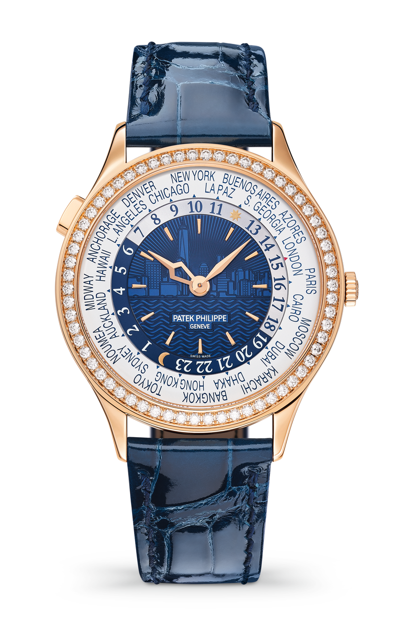 Patek Philippe Ref. 7130R world time watch for women.
