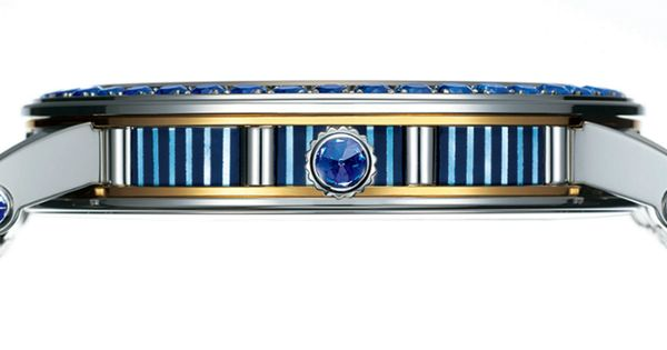 Seiko Credor Fugaku Tourbillon Limited Edition is entirely set with sapphires on the case side