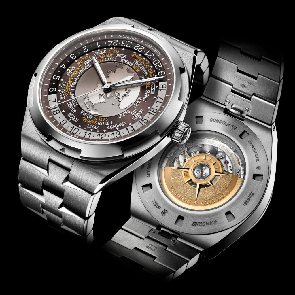 World Time Overseas is offered in three color choices and features a sophisticated three-layer dial