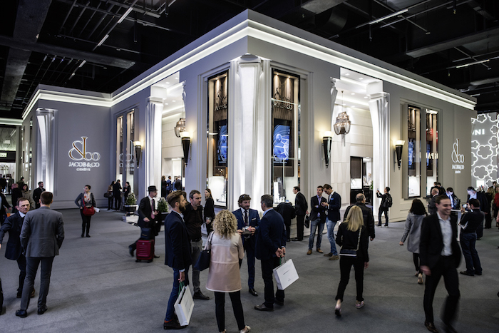 "Exhibition space at Baselworld 2017 features elaborate ""booths"""